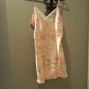 f267abfdda1f Adonna Intimates & Sleepwear - Adonna silky white pink lingerie size large  nighty